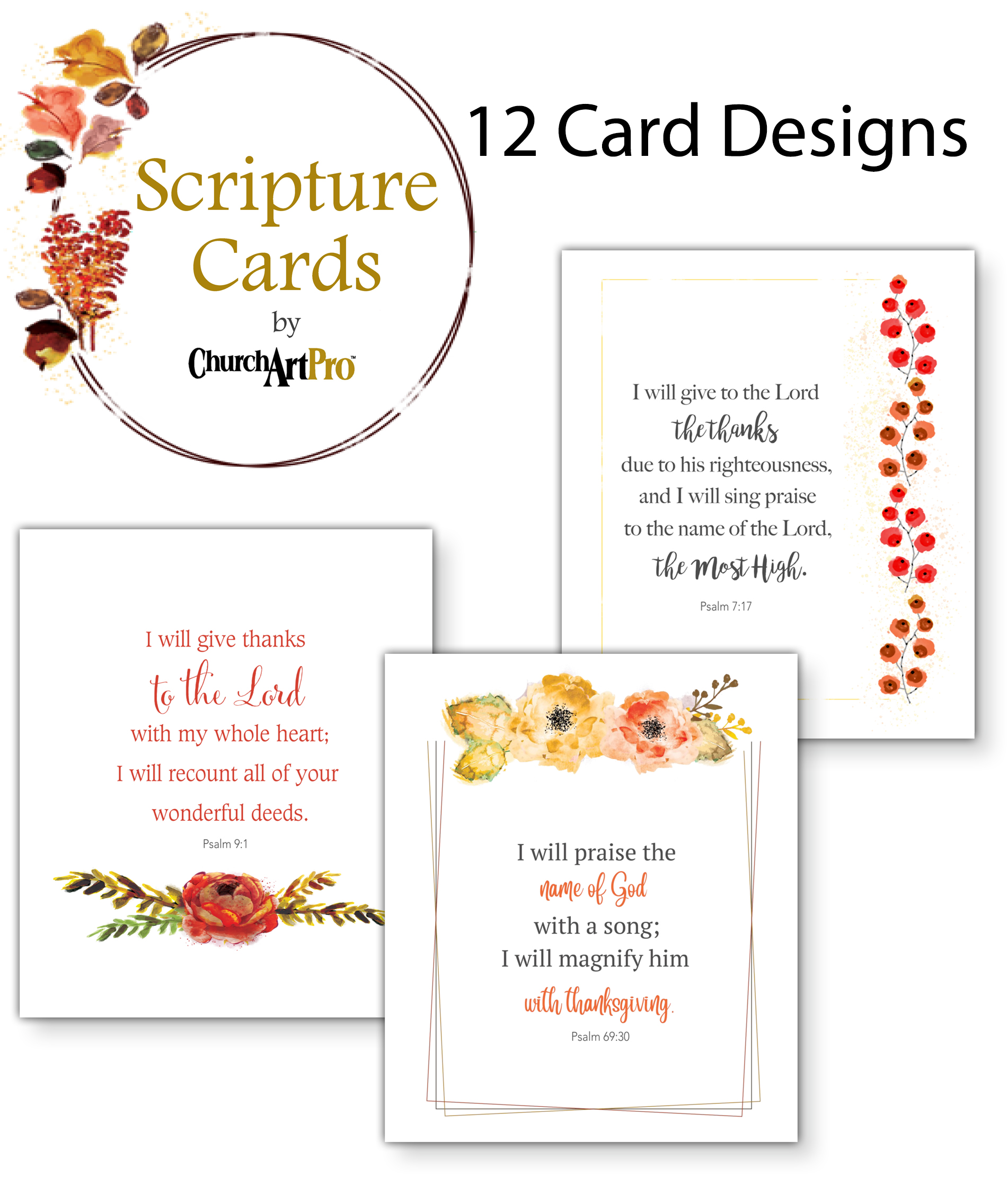 Free Thanksgiving Scripture Card Designs